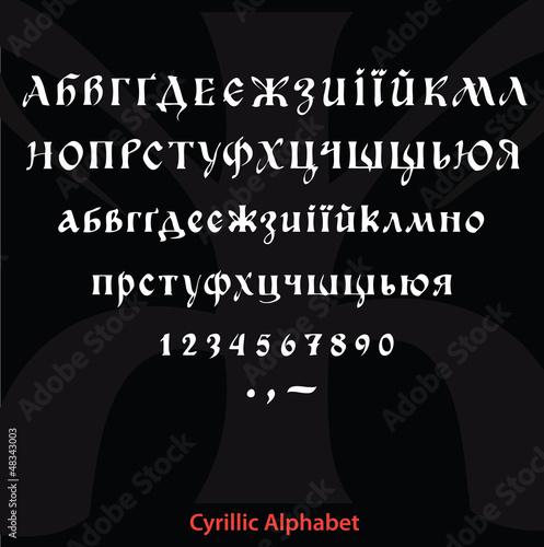 Fotografie, Obraz  Cyrillic alphabet