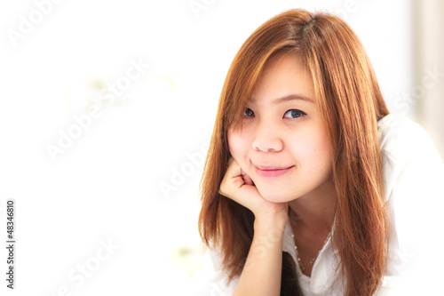 Woman with smile