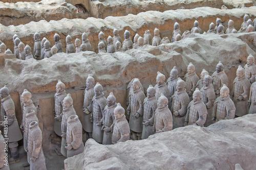 Foto op Plexiglas Xian Terra cotta warriors excavation