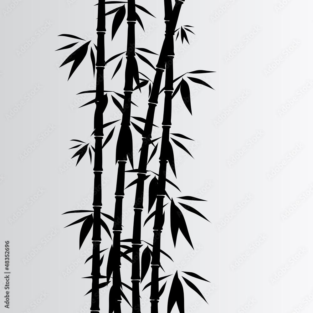 Gray bamboo background
