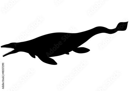 Mosasaurus (Tylosaurus) silhouette Canvas Print