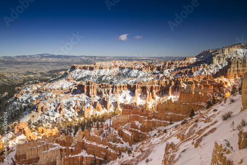 Fotobehang Natuur Park Bryce Canyon National Park in Inverno