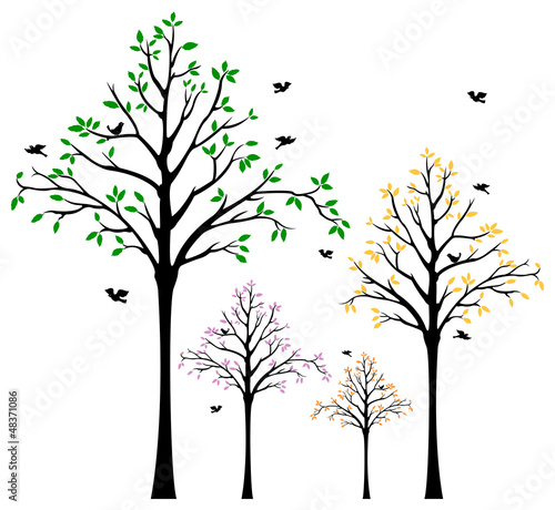 tree wall decal - buy this stock vector and explore similar vectors