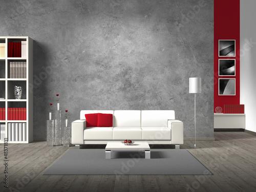 Fotografia  modernes wohnzimmer