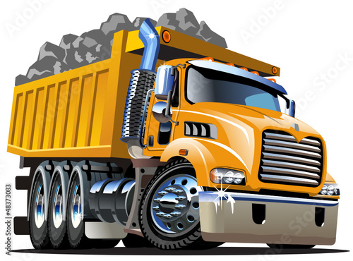 Recess Fitting Cars Vector Cartoon Dump Truck