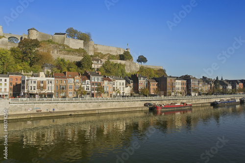 Foto auf AluDibond Stadt am Wasser Namur, old city