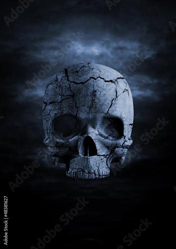 Keuken foto achterwand Begraafplaats Dark skull