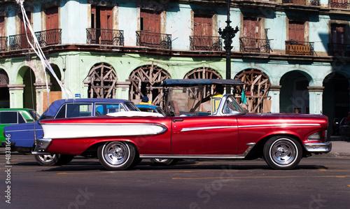 Türaufkleber Autos aus Kuba Historische kubanischer Strassenkreuzer