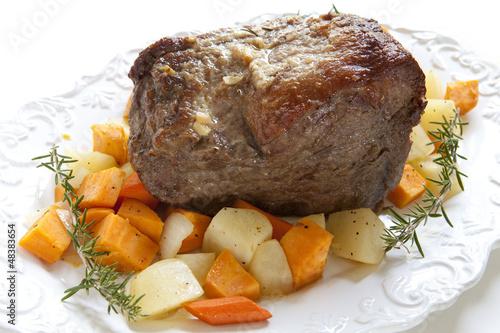 Fotografie, Obraz  Beef Roast with Vegetables