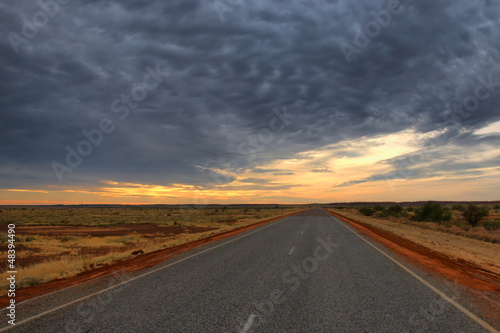 Foto op Aluminium Luchthaven Lonely Outback Highway in Western Australia