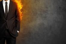 Man In Burning Suit