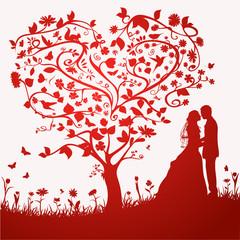 Fototapeta na wymiar Hochzeitskarte Vektor