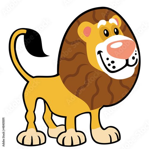 prosty-dziecinny-lew