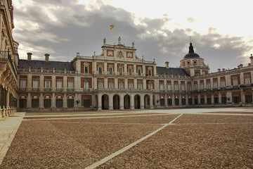 The Palace of Aranjuez, main facade, Madrid, Spain