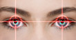 canvas print picture - Augenlaser