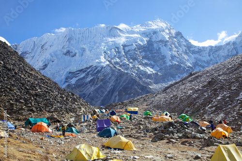 Wall Murals Nepal Mount Island Peak (Imja Tse) base camp, Nepal