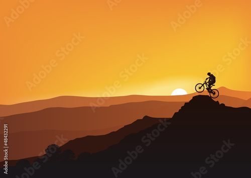 Fototapety Sport  vtt-montagne