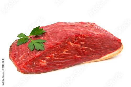 Fotografie, Obraz  Tafelspitz auf weiß isoliert (frisches Fleisch vom Rind)
