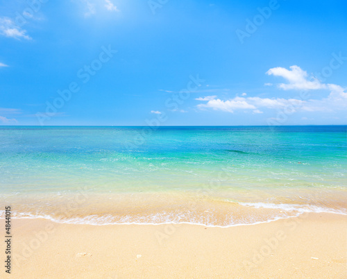 Fotobehang Strand beach and tropical sea