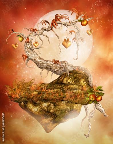 Zaczarowane drzewo ze złotymi jabłkami