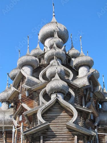 Valokuva  Holzkuppeln auf Kishi, Russland