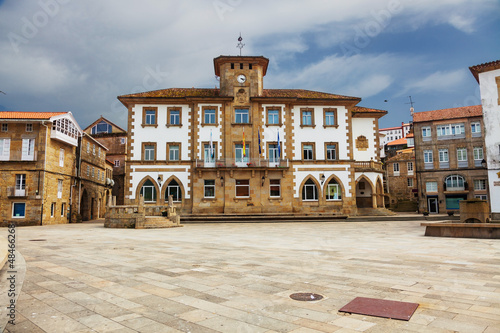 Town hall of Muros, fishing town. Province of La Coruña, Spain