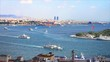 Spring view from Galata Tower to Istanbul