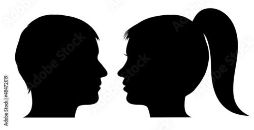 Fotografía Man and woman face profile