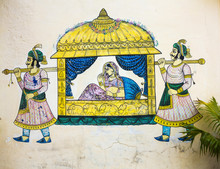 Wall Painting In Udaipur At A Local House