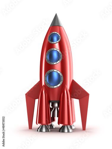 czerwona-rakieta-na-bialym-tle