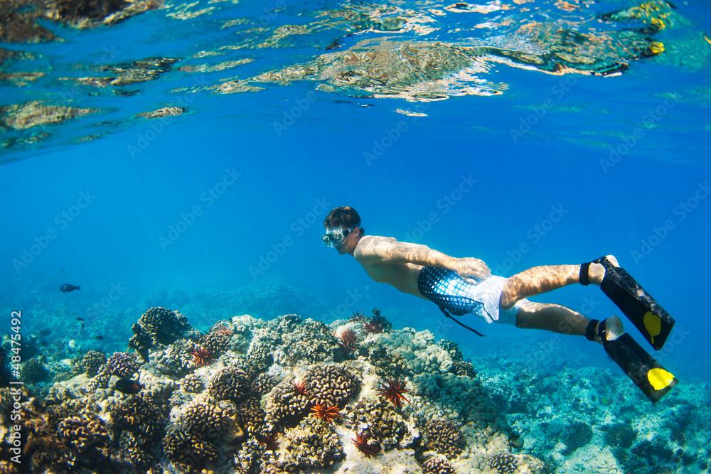 Fototapeta Snorkeling Underwater
