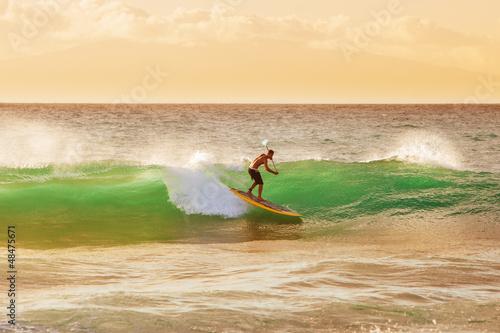 Papiers peints Nautique motorise Sunset Surfer