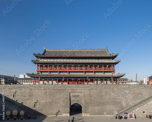 Foto op Plexiglas Xian the ancient city wall of xi'an