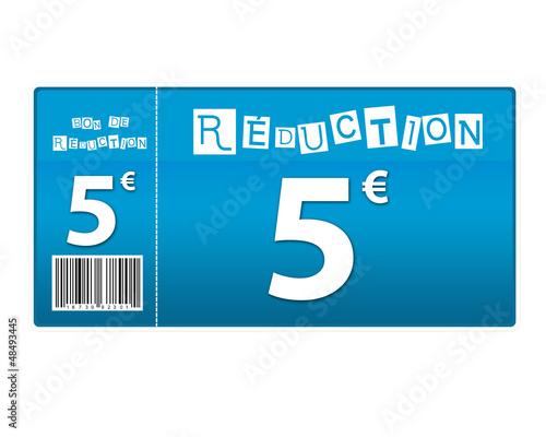 Photo  bon de réduction 5 euros