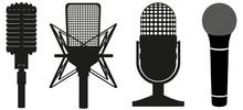 Icon Set Of Microphones Black ...