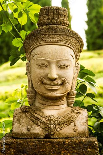 headof khmer statue