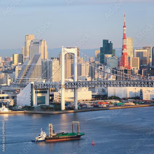 Spoed Foto op Canvas Tokyo Tokyo Skyline