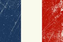 Drapeau Français Usé