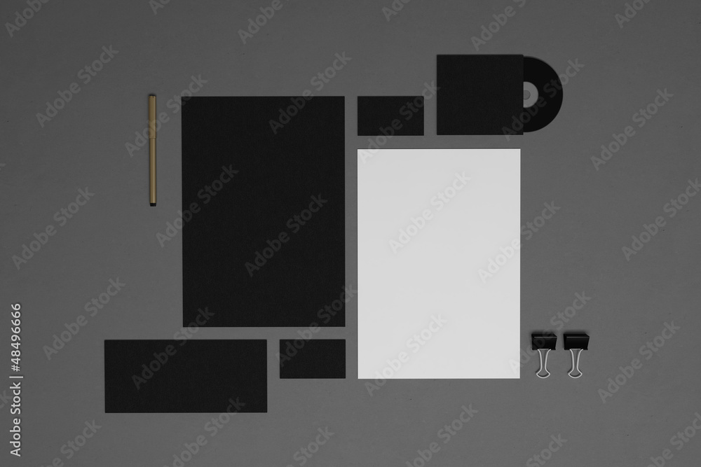 Photo  Blank corporate identity elements