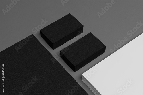 Photo  Blank corporate identity business card