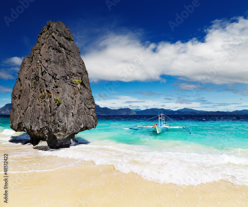 Motiv-Rollo Basic - Tropical beach, El Nido, Philippines (von Dmitry Pichugin)