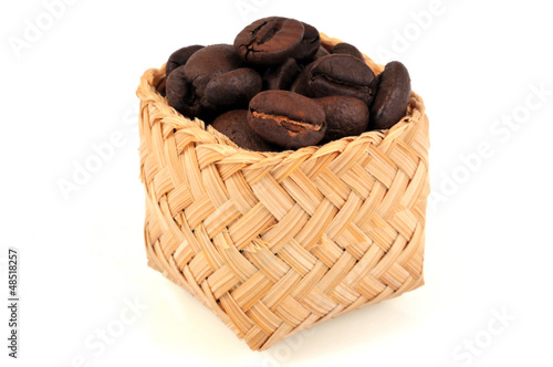 Canvas Prints Coffee beans Panier de café en grains
