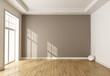 Leinwanddruck Bild - empty brown room