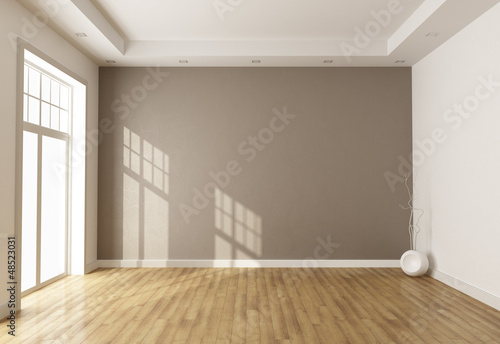 Fotografie, Tablou  empty brown room