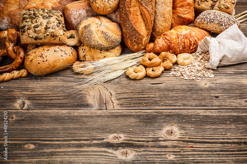 Printed kitchen splashbacks Bread Baked goods