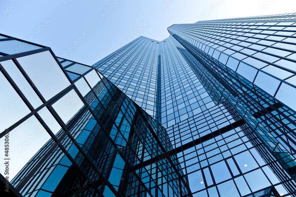 Fototapeta Bürogebäude - Bank in Frankfurt