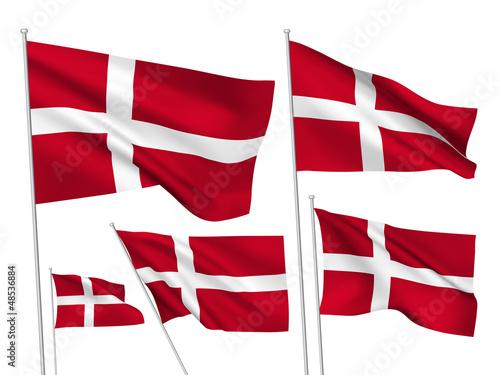 Denmark vector flags Fototapete