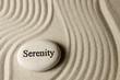 canvas print picture - Serenity stone