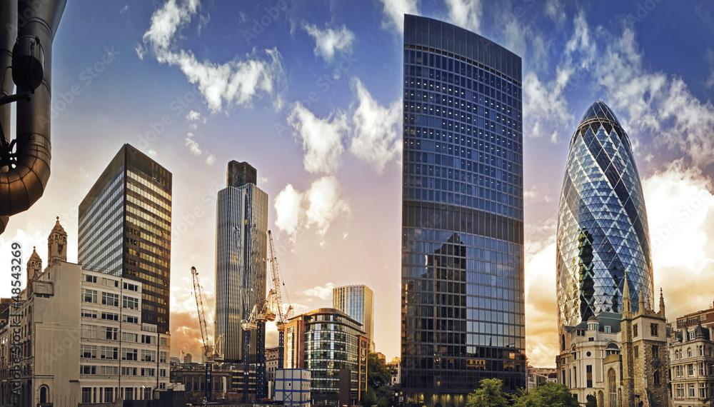 Fototapeta London financial district