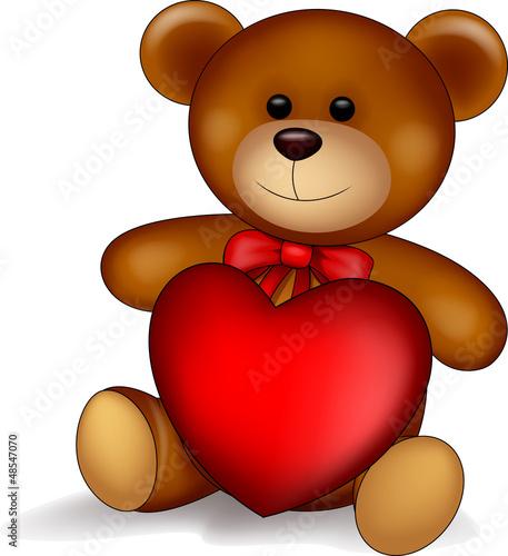 Teddy bear with love #48547070